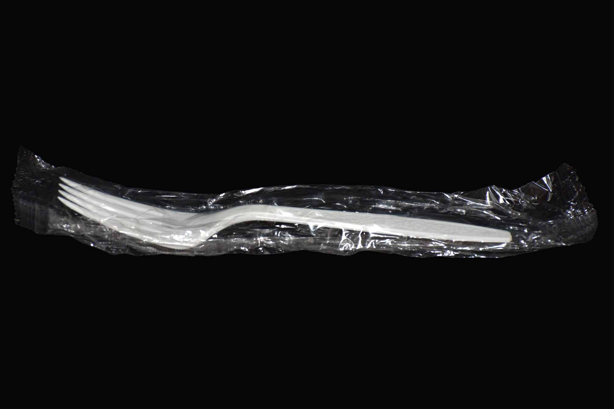 Wrapped Medium-Weight Plastic Fork, White, 1000/Carton