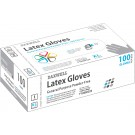 Latex Powder-Free Gloves, X-Large, Ivory, 100/Box