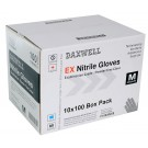 Blue Nitrile Exam Powder-Free Gloves, Medium, 1000 Gloves
